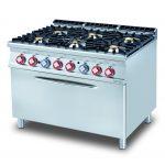 Cucina a gas con forno maxi